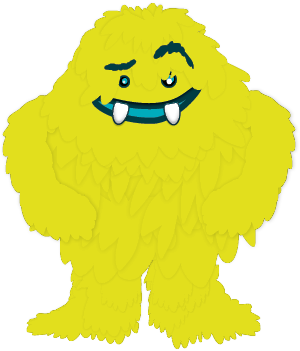 BHAG Yellow fluffy monster